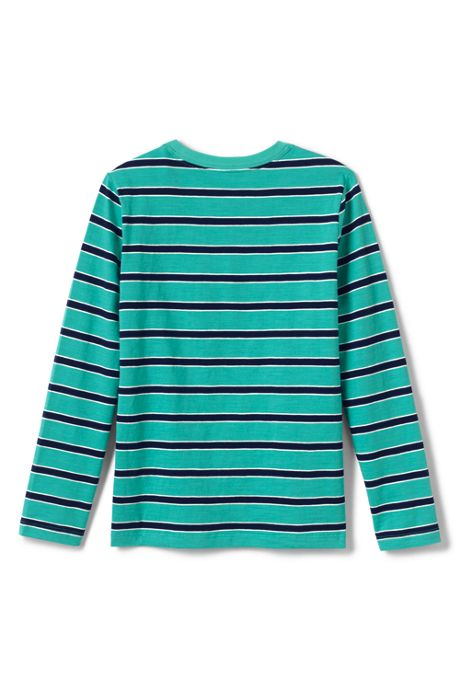 Toddler Boys Stripe Slub Tee Shirt