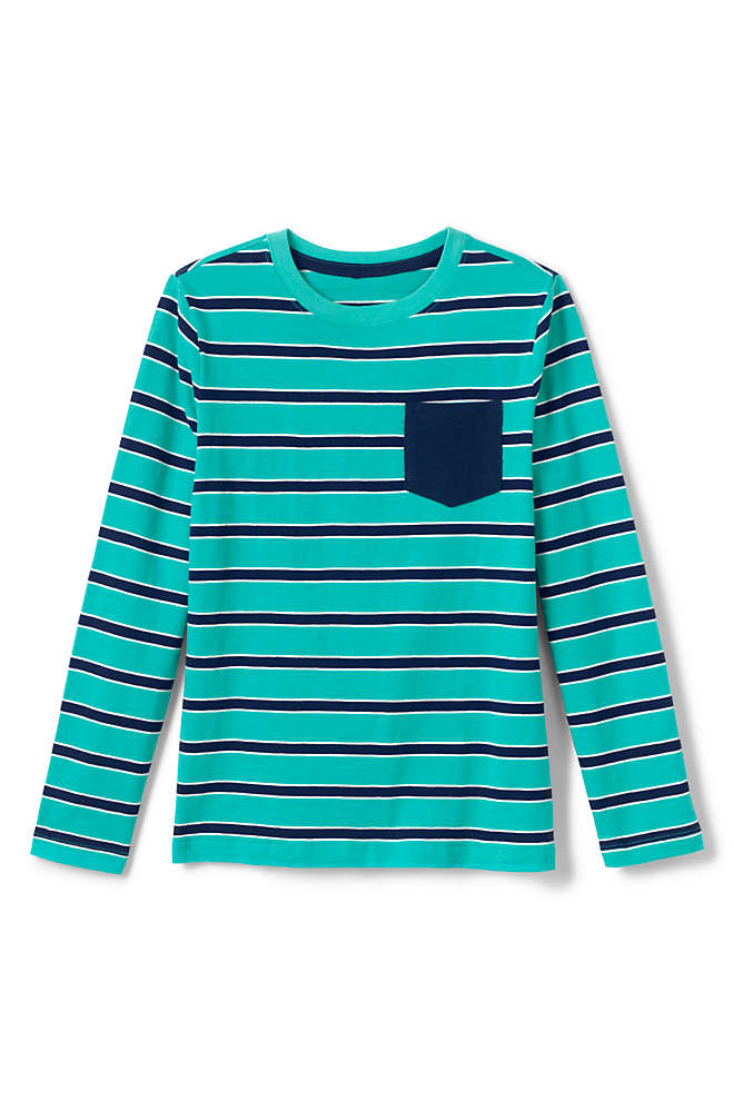 Boys Slub Knit Tee Shirt, Front