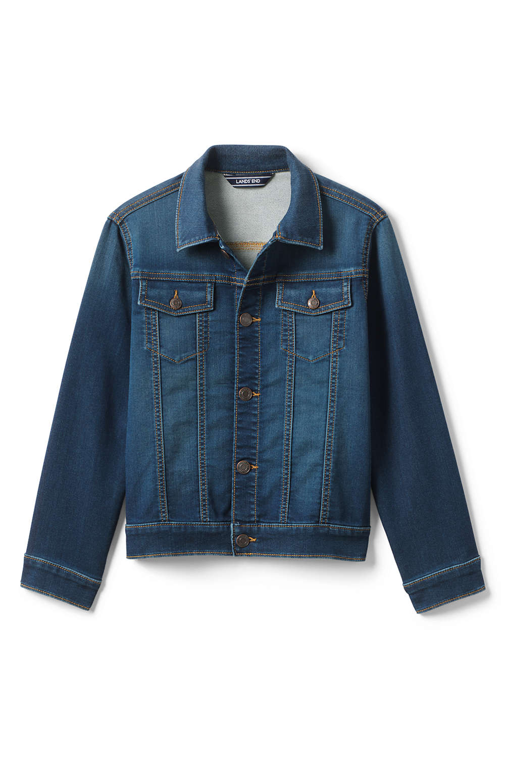 27c8c69c2c47e Kids Stretch Jean Jacket from Lands  End