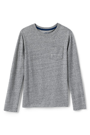 3302c9a5db92 Boys' Long Sleeve T-shirt with Pocket | Lands' End