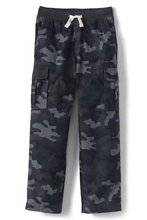 f2ef0a6bf8 Boys' Iron Knees Pull-on Camo Cargo Trousers | Lands' End