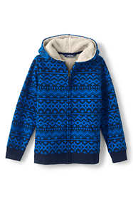 Little Boys Pattern Sherpa Lined Hoodie