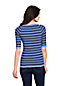 Women's Striped Ribbed Scoop Neck Jumper