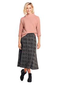 Women's Petite Print Knit Boot Midi Skirt