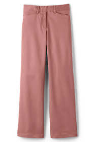Women's Petite Plus Size Mid Rise Chino Wide Leg Pants