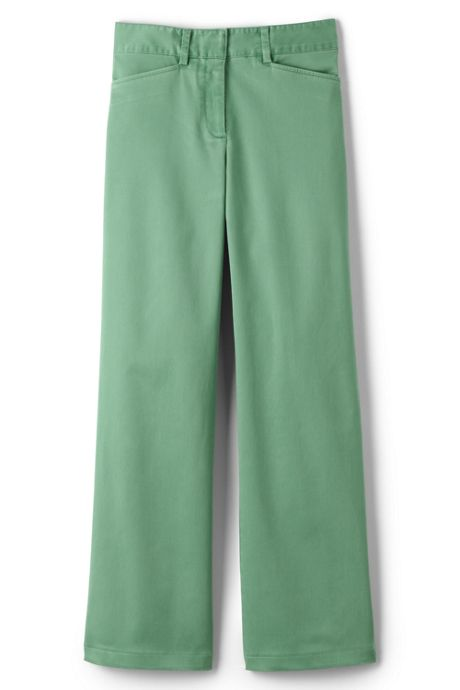 Women's Plus Size Mid Rise Chino Wide Leg Pants