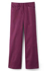 Women's Petite Plus Size Mid Rise Chino Wide Leg Pants