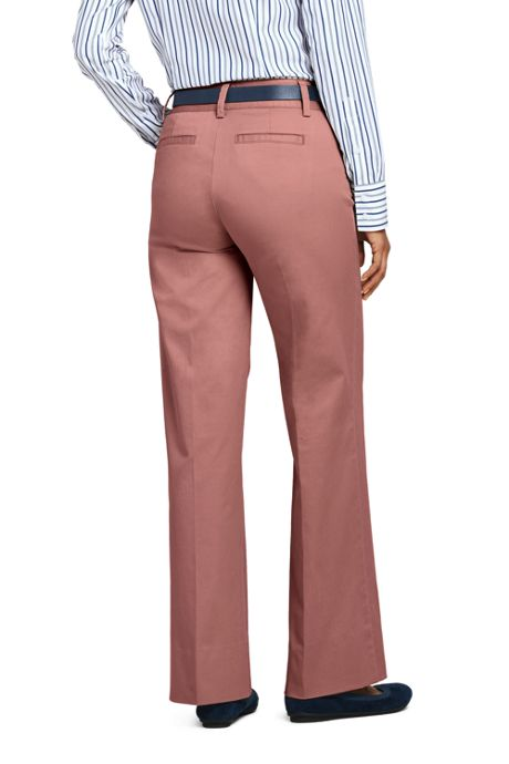 Women's Mid Rise Chino Wide Leg Pants