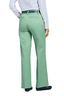 Women's Mid Rise Chino Wide Leg Pants, Back