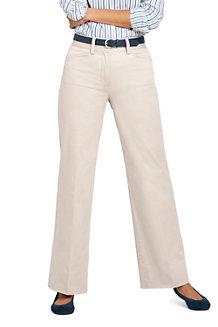 Le Chino Large Stretch Taille Mi-Haute Ourlets Sur-Mesure, Femme