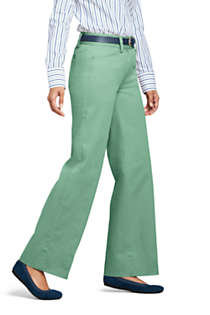 Women's Mid Rise Chino Wide Leg Pants, Unknown