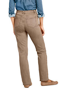 Women's Petite High Rise Straight Leg Jeans - Color, Back