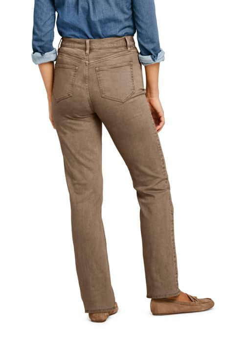 Women's High Rise Straight Leg Jeans - Color