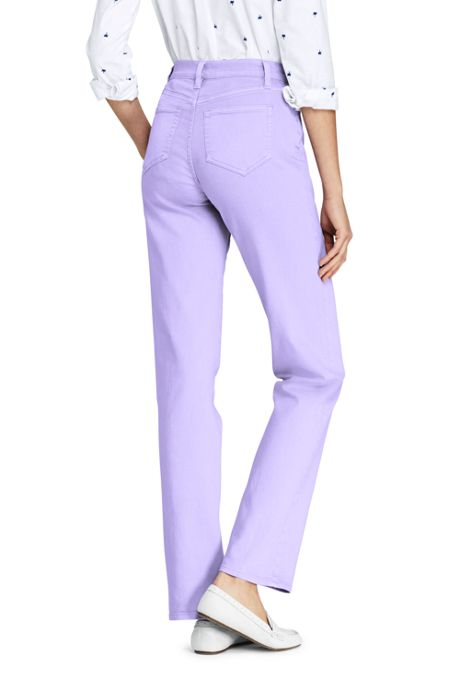 Women's High Rise Straight Leg Jeans