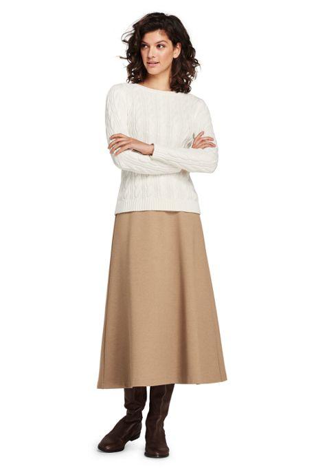 Women's Tall Ponte Knit Boot Midi Skirt