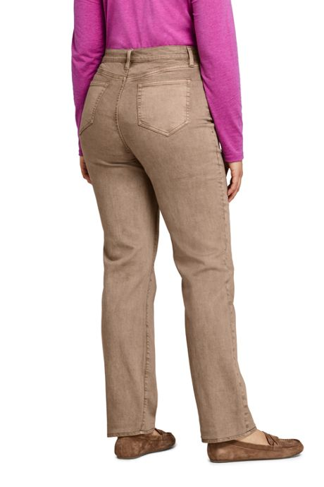 Women's Plus Size High Rise Straight Leg Jeans - Color