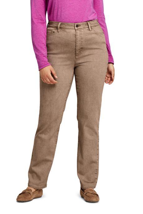 Women's Plus Size High Rise Straight Leg Jeans - Color