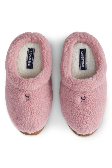 Kids Sherpa Fleece Clog Slippers