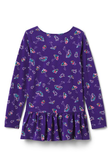 Girls Ruffle Back Pattern Tunic Top