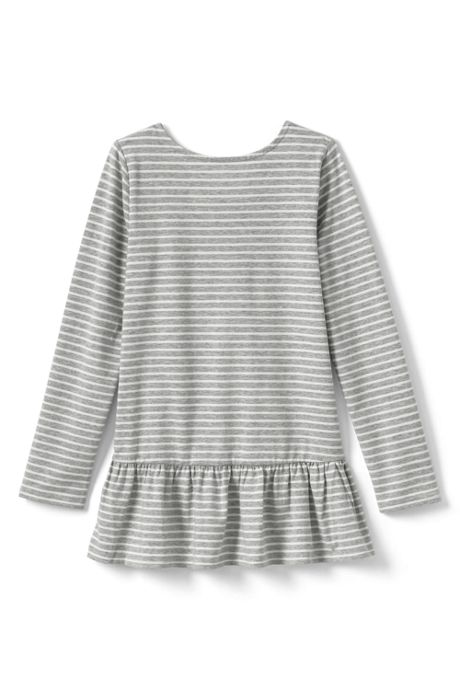 Girls Plus Size Ruffle Back Pattern Tunic Top