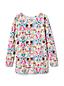 Girls' Ruffle Back Patterned Tunic Top