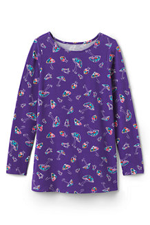 eacf50acbee Girls' Ruffle Back Patterned Tunic Top