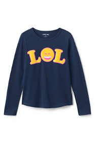 Little Girls Knit Graphic Tee