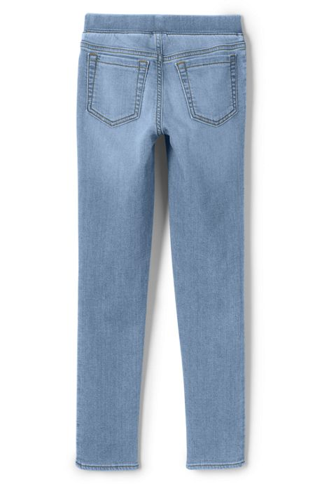 Girls Slim Iron Knee Denim Jegging Jeans