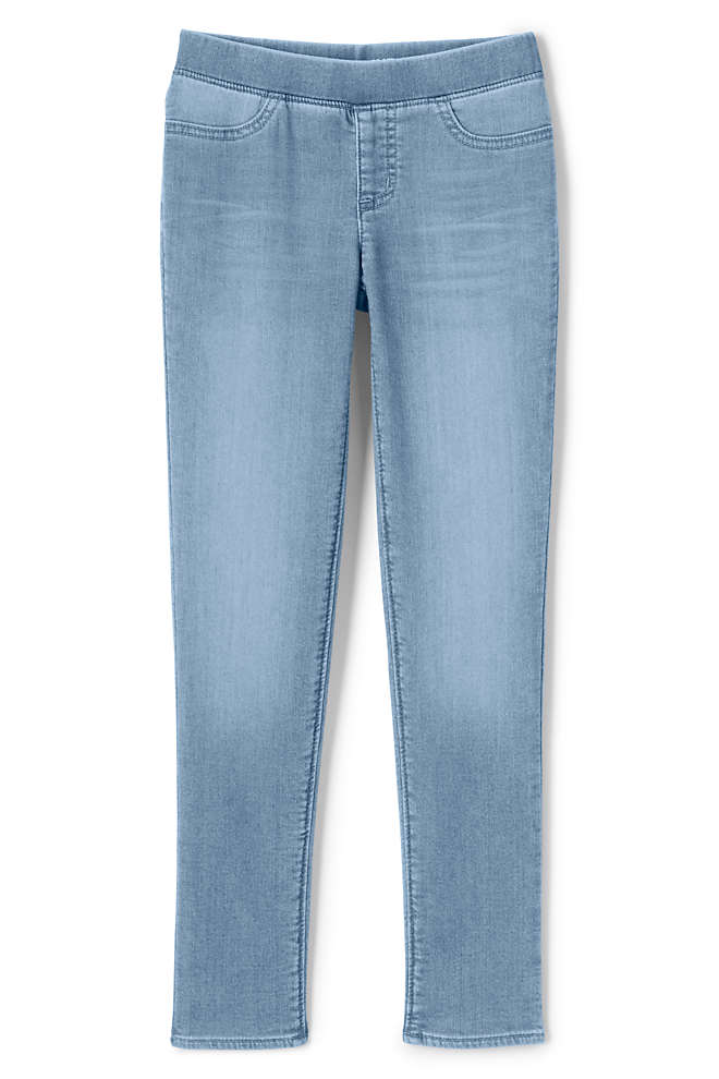 Girls Plus Size Iron Knee Denim Jegging Jeans, Front