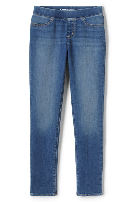 Girls Plus Size Iron Knee Denim Jegging Jeans