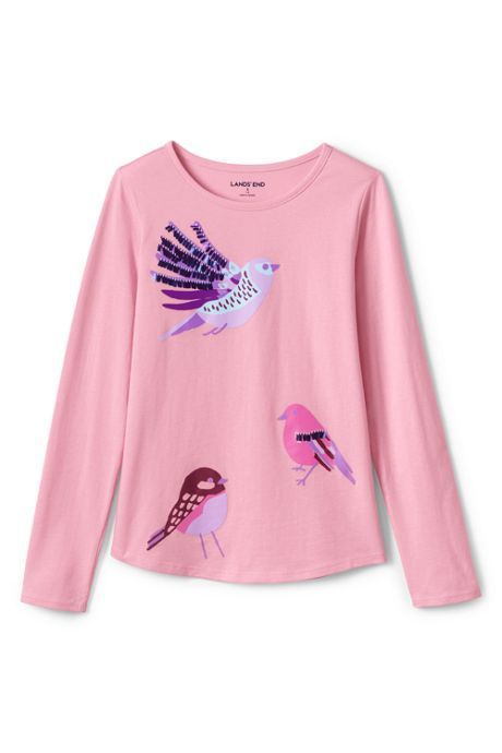 Girls Embellished Knit Graphic Tee