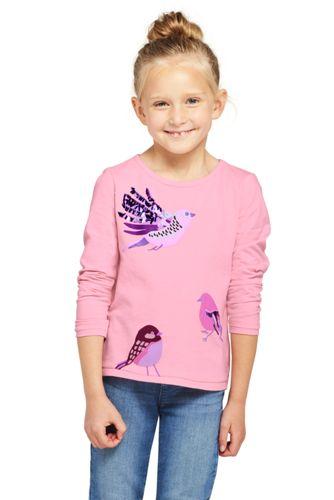 Le T-Shirt Graphique en Jersey à Motifs, Petite Fille
