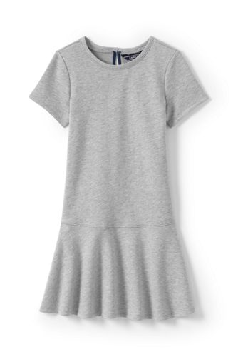 Girls' French Terry Drop Waist Dress