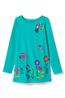 Girls' Ruffle Back Graphic Tunic Top