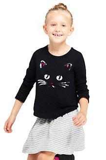 Le T-Shirt Graphique en Jersey avec Décoration, Fille