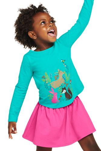 Le T-Shirt Graphique en Jersey à Motifs Imprimés, Petite Fille