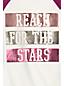Le T-Shirt Graphique à Motifs Manches Longues Raglan, Fille