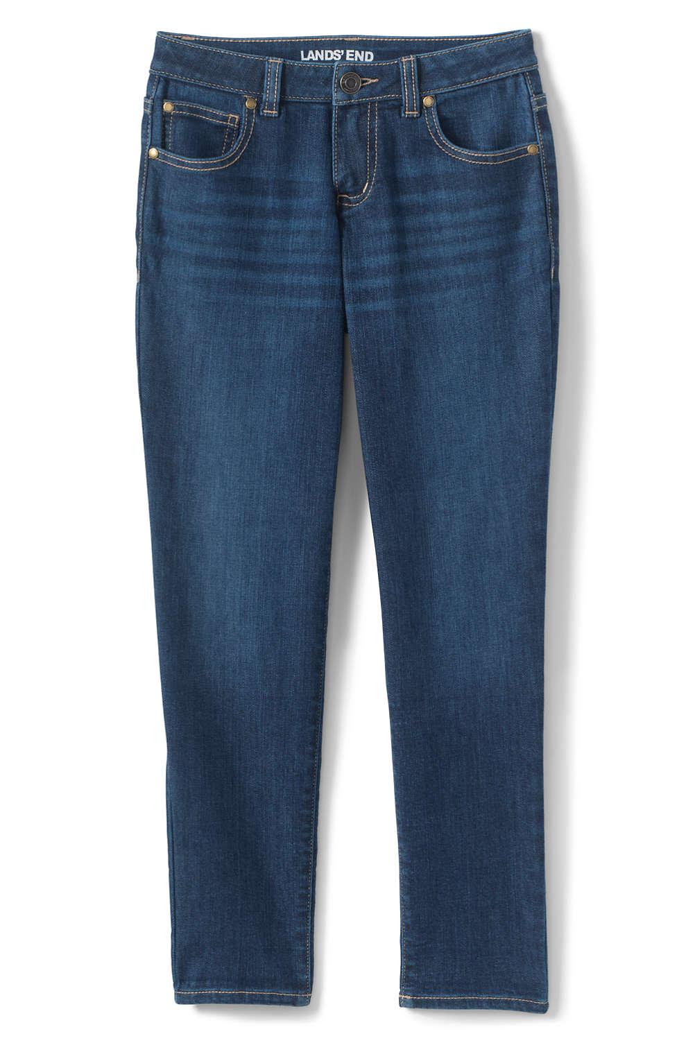 Girls Plus Size Iron Knee Girlfriend Jeans