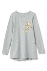 Girls Plus Size Graphic Henley Tunic Top
