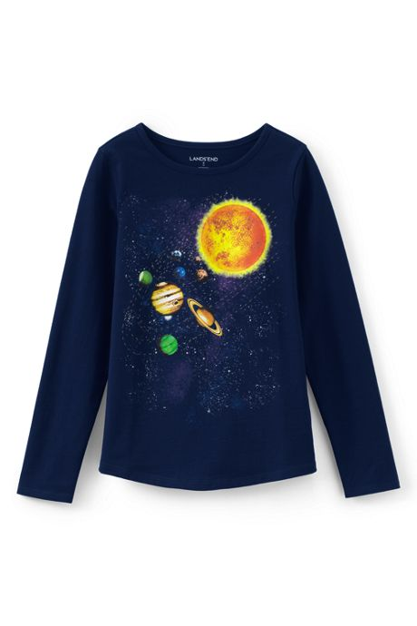 Little Girls Solar System Graphic Tee
