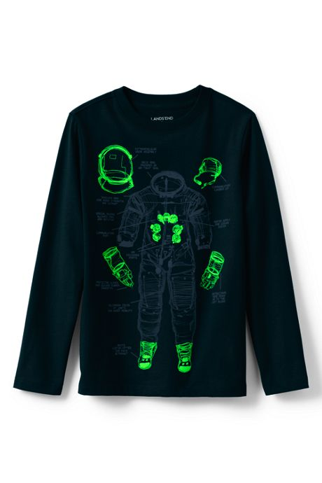 Boys Husky Glow in the Dark Graphic Tee Shirt