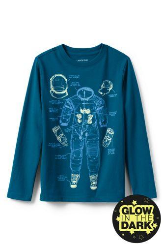 Le T-Shirt à Motifs Phosphorescents et Manches Longues, Tout Petit Enfant