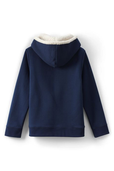 Little Girls Pattern Sherpa Hoodie
