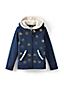 Little Girls' Patterned Sherpa Hoodie