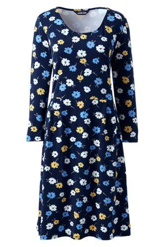 La Robe Housse Stretch Manches 3/4 à Motifs, Femme Stature Standard