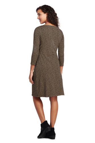 Lands' End - Plus Scoop Neck Print Jersey Dress - 2