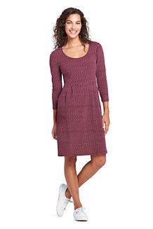 Gemustertes Jerseykleid mit 3/4-Ärmeln für Damen