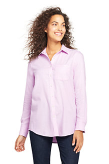 Women's Brushed Flannel Herringbone Shirt