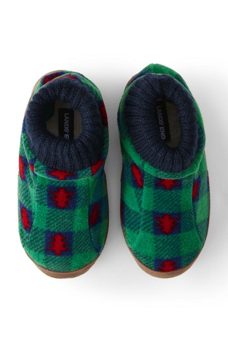 Kids Christmas Fleece Bootie House Slippers