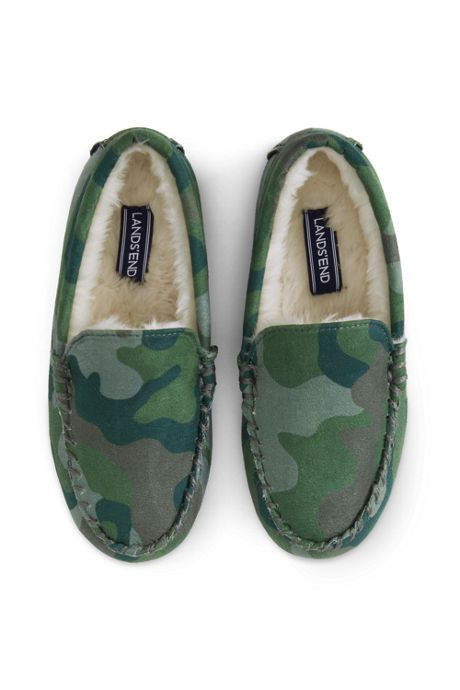 Kids Printed Moccasin Slippers